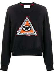 No Ka' Oi Beaded Embroidery Sweatshirt Black