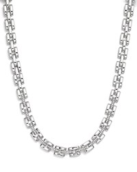 Roberto Coin 18K White Gold Retro Diamond Collar Necklace 16