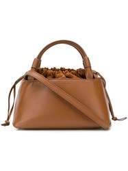 Carolina Santo Domingo Drawstring Top Tote Brown