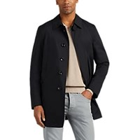 Barneys New York Packable Tech Taffeta Trench Coat Navy