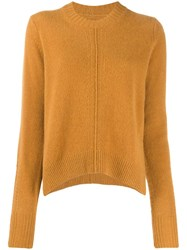 Isabel Marant Chinn Side Slit Crewneck Jumper Brown