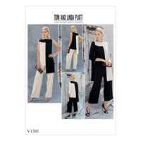Vogue Women's Tunic Top And Trousers Sewing Pattern 1581