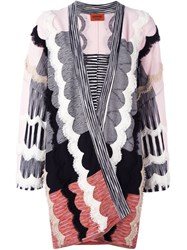 Missoni Relaxed Fit Cardi Coat Pink And Purple