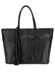 Zadig And Voltaire Mick Initials Tote Bag Black