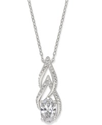 Danori Silver Tone Cubic Zirconia Pendant Necklace Created For Macy's