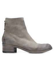 Marsell Marsa Ll Rear Zip Ankle Boots Grey