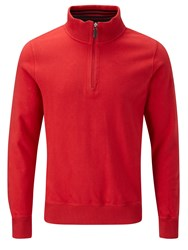 Oscar Jacobson Russ Half Zip Jumper Red