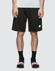 Moncler Jersey Shorts With Patch And Zip Detail Black