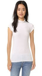 Enza Costa Brushed Jersey Cap Sleeve Turtleneck Cloud
