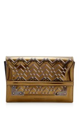 Tomas Maier Metallic Gotham Clutch Gold
