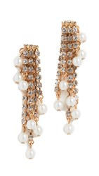 Elizabeth Cole Tressor Earrings Pearl