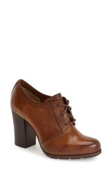 Women's Frye 'Parker' Oxford Pump Tan Leather