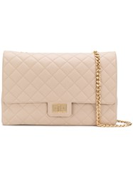 Designinverso Quilted Shoulder Bag Nude And Neutrals