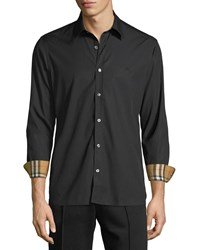 Burberry William Signature Check Facing Sport Shirt Black
