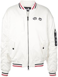 Haculla Embroidered Bomber Jacket White