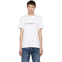 Givenchy White Logo T Shirt