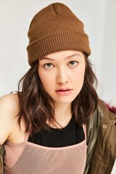 Urban Outfitters Classic Knit Beanie Copper