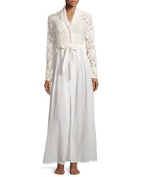 La Costa Phedra Lace Bodice Long Robe White