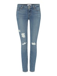 Paige Verdugo Skinny Jean In Annora Destroyed Denim Light Wash
