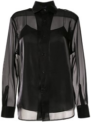 Ralph Lauren Collection Satin Structured Shirt Black