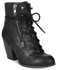 Mojo Moxy Dolce By Joelle Lace Up Booties Women's Shoes Black