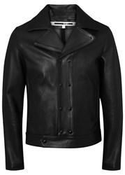 Mcq By Alexander Mcqueen Black Leather Jacket