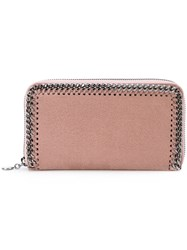 Stella Mccartney Falabella Wallet Women Polyester Metal One Size Pink Purple