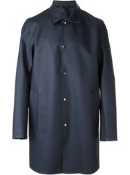Stutterheim 'Vasastan' Raincoat Blue