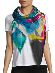Franco Ferrari Danao Einstein Silk And Modal Scarf Multi