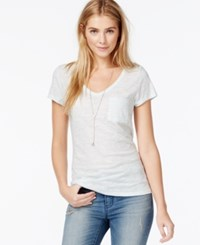 Maison Jules V Neck Pocket Tee Morning Mist