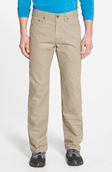 Men's Prana 'Bronson' Straight Leg Stretch Canvas Pants Dark Khaki