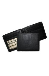 Boconi Men's 'Tyler' Tumbled Leather Billfold Black
