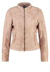 Gipsy Leather Jacket Beige