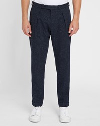 Carven Navy 7 8 Classic Flecked Trousers Blue