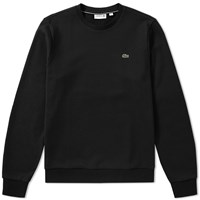Lacoste Fleece Crew Sweat Black