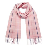 Barbour Women's Country Tattersall Scarf Pink Plaid