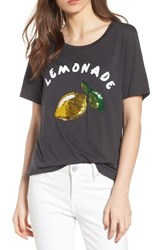 South Parade Lola Lemonade Sequin Tee Black