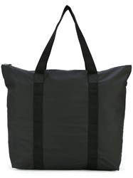 Rains Oversized Tote Women Polyurethane One Size Black