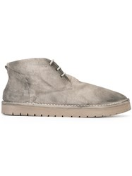 Marsell Gradient Lace Up Boots Grey