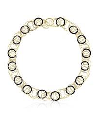 Buccellati 18K Yellow Gold And Black Onyx Short Hawaii Necklace