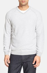 Men's Big And Tall Tommy Bahama 'Make Mine A Double V Neck' Raglan Pullover New Silver