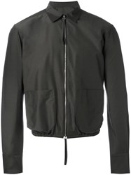 E. Tautz 'Torquay' Zip Up Bomber Jacket Brown