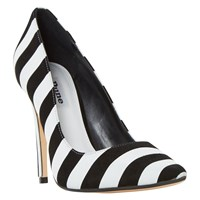 Dune Bellisi Pointed Toe Court Shoes Black White