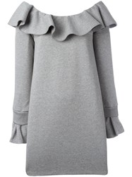 Opening Ceremony Ruffled Neckline Dress Grey