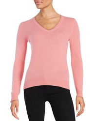 Lord And Taylor Plus Basic V Neck Cashmere Sweater Plumeria