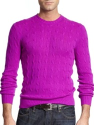 Polo Ralph Lauren Cable Knit Cashmere Sweater Yellow