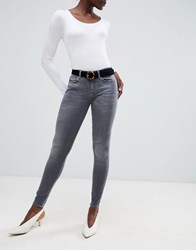 Selected Elena Skinny Jeans Worn Grey