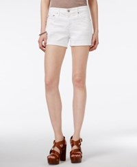Ag Adriano Goldschmied White Wash Cuffed Denim Shorts