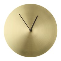 Menu Norm Wall Clock Brass