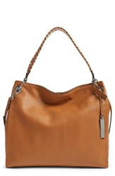 Vince Camuto Nadja Leather Hobo Brown Whiskey